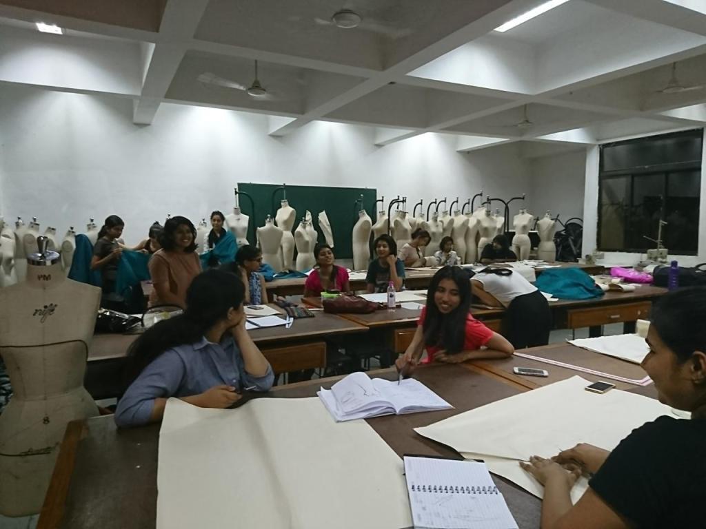 The Pattern Making lab at National Institute of Fashion Technology, Bangalore